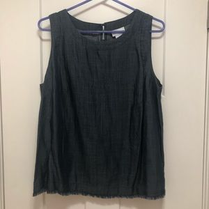 Chambray tank top. Worn once. Size M